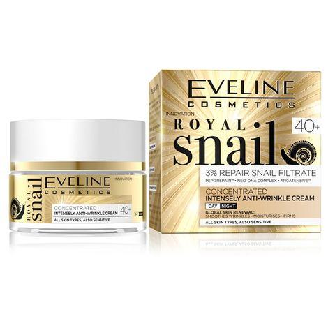 Eveline Royal Snail Интензивен дневен и нощен крем за лице против бръчки с екстракт от охлюви 40+ х50 мл