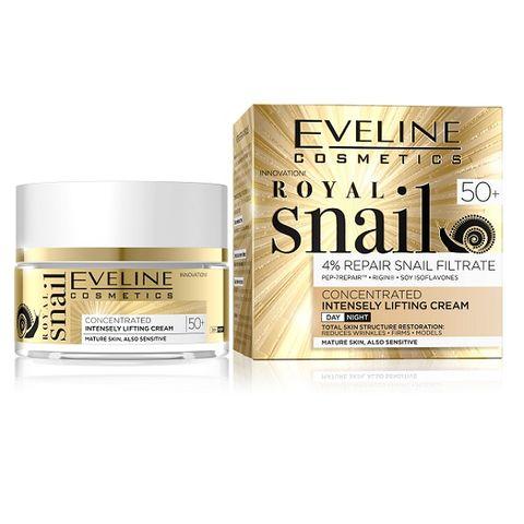 Eveline Royal Snail Дневен и нощен крем за лице с екстракт от охлюви и лифтинг ефект 50+ х50 мл