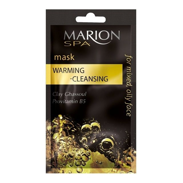 Marion SPA Почистваща и загряваща маска за лице с вулканична глина и провитамин В5 х7,5 мл