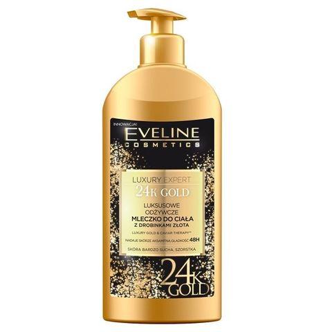 Eveline Luxury Expert 24k Gold Подхранващ лосион за тяло със златни частици х350 мл