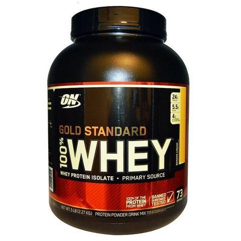 Optimum Nutrition Gold Standard Суроватъчен протеин Бананов крем х2270 грама