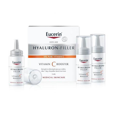 Eucerin Hyaluron-Filler Vitamin C Booster Подмладяващ бустер за лице с витамин С и хиалуронова киселина 3х8 мл