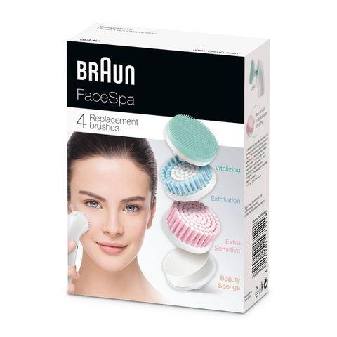 Braun FaceSpa 80MV Комплект от витализиращ накрайник, резервни четки и козметична гъба за лице