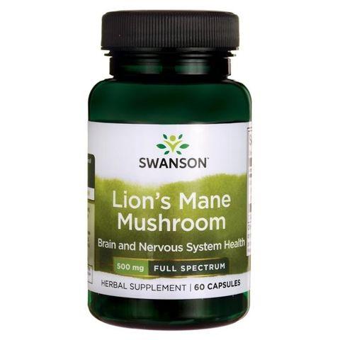 Swanson Пълен спектър Гъба Лъвска грива 500 мг х60 капсули