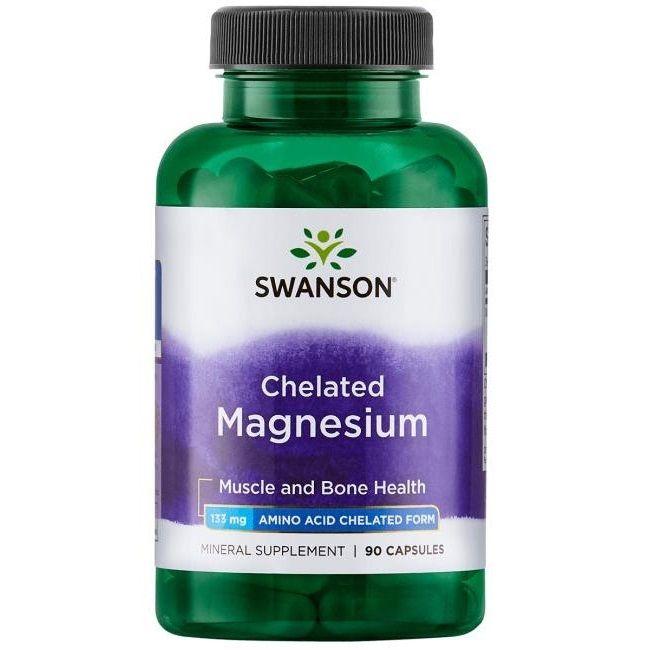 Swanson Албион хелатиран магнезиев глицинат 133 мг х90 капсули