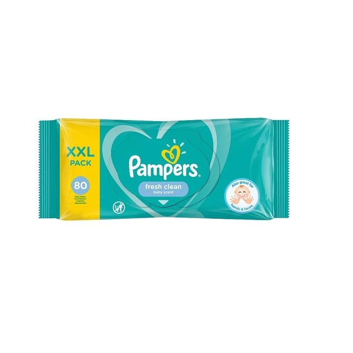 Pampers Fresh Clean Baby Scent Бебешки мокри кърпички x80 броя
