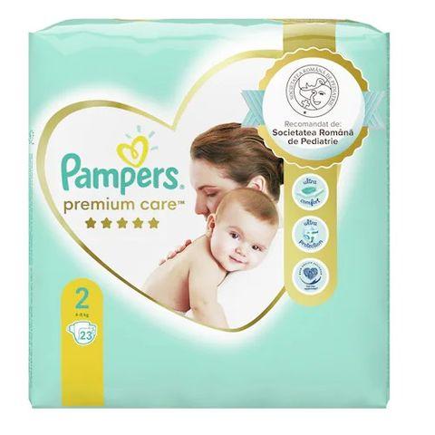 Pampers Premium Care 2 Mini Пелени за деца от 4 до 8 килограма x23 броя