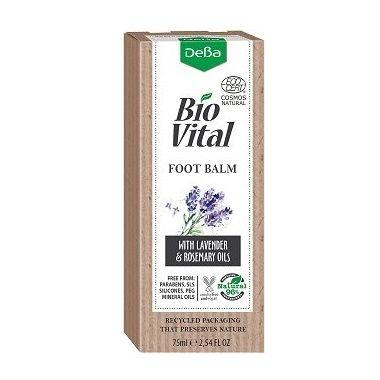 Deva BioVital Подхранващ натурален балсам за крака с масло от лавандула х75 мл
