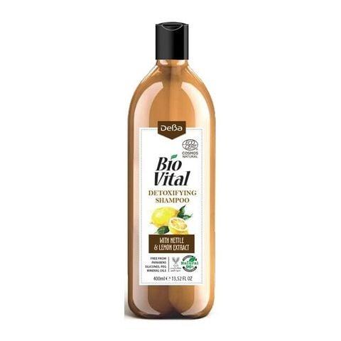 Deva BioVital Натурален детоксикиращ шампоан за мазна коса с лимон и коприва х400 мл