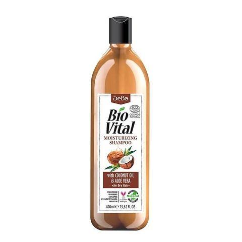 Deva BioVital Натурален овлажняващ шампоан за суха коса с масло от кокос и екстракт от алое вера х400 мл