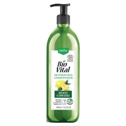 Deva BioVital Натурален детоксикиращ балсам за мазна коса с лимон и коприва х400 мл