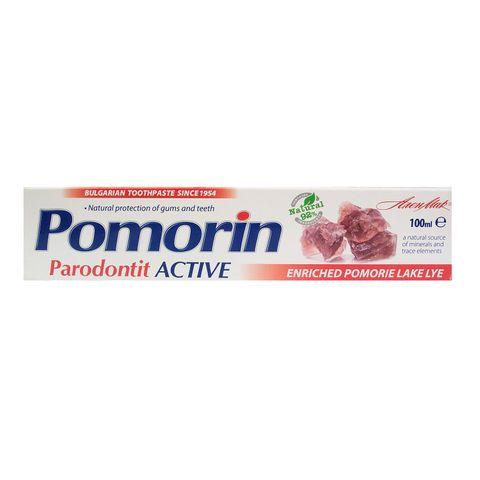 Pomorin Parodontit Active Паста за зъби против кървене на венците с поморийска луга х100 мл