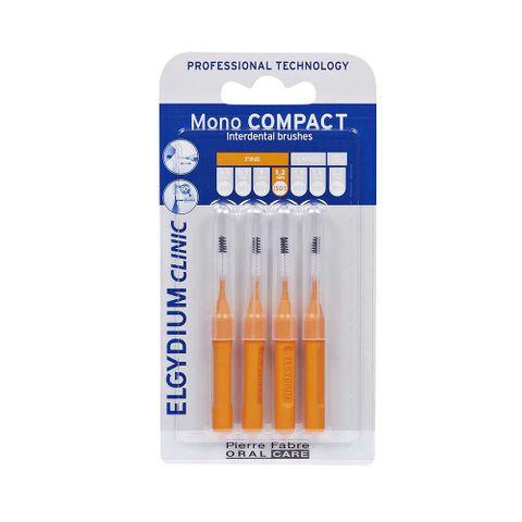 Elgydium Clinic Mono Compact Интердентална четка за зъби, Оранжева 1,2 mm х4 броя
