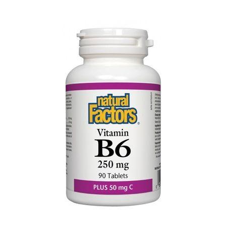 Natural Factors Витамин B6 и витамин С х90 таблетки