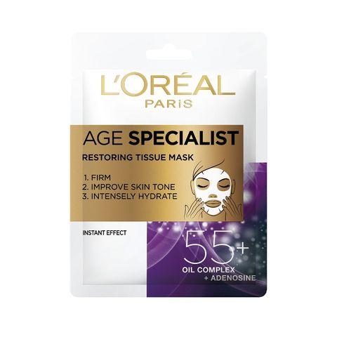 Loreal Age Specialist 55+ Хартиена маска за лице за възстановяване на кожата x30 грама