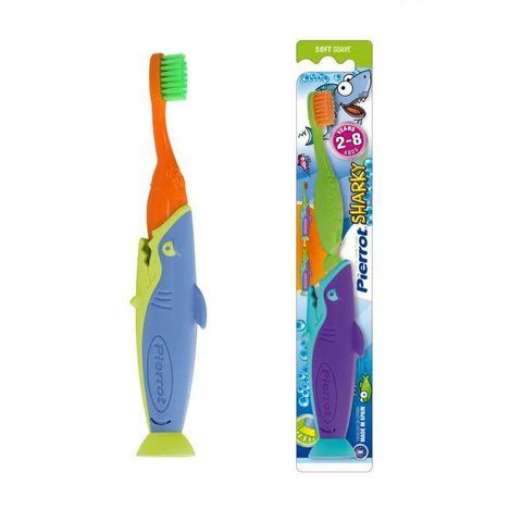 Pierrot Sharky Четка за зъби за деца от 2 до 8 години