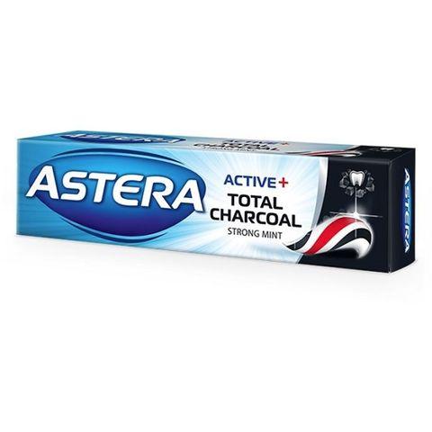 Astera Active+ Total Charcoal Паста за зъби с активен въглен х100 мл