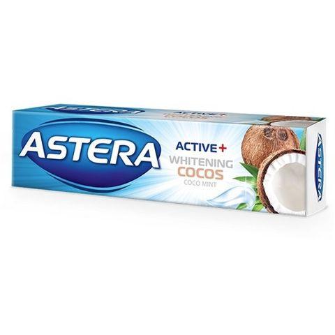 Astera Activ+ Whitening Cocos Избелваща паста за зъби с аромат на свежа мента и кокос х100 мл