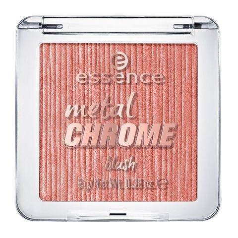 Essence Metal Chrome Компактен руж за лице, цвят 10 My Name Is Gold Rose Gold