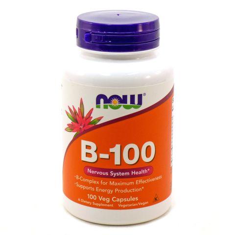 Now Foods В-100 Витамин В комплекс х100 капсули
