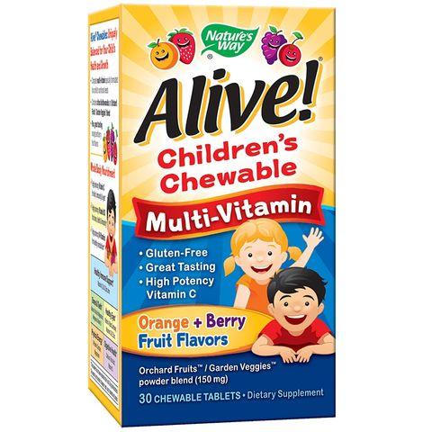 Alive Дъвчащи мултивитамини за деца х30 таблетки Nature's Way