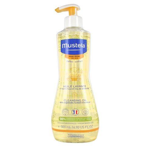 Mustela Душ олио за бебета и деца за суха кожа х500 мл