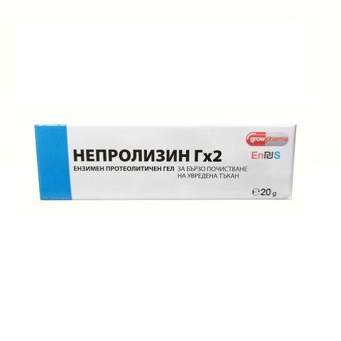 Непролизин Гх2 Протеолитичен гел за почистване на увредена тъкан х20 грама