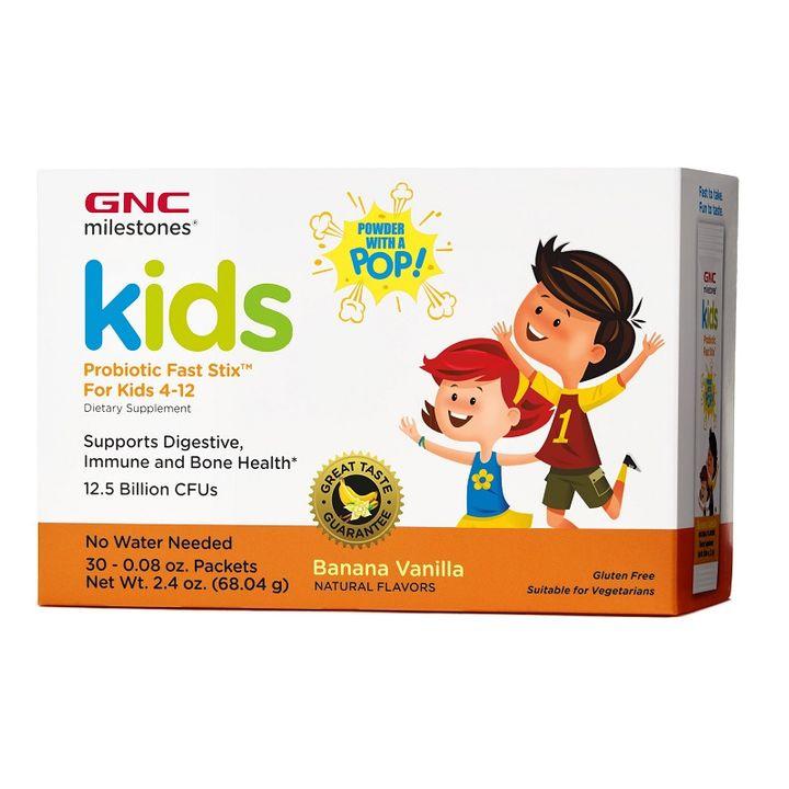GNC Milestones Kids Probiotic Fast Stix Пробиотик за деца 12.5 млрд x30 сашета