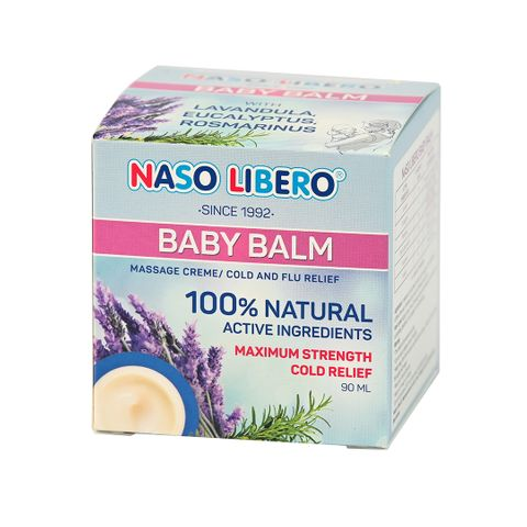 Naso Libero Baby Balm Bалсам за разтривки за бебета от 3м и деца x90 мл