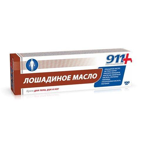 911 Конско масло Крем за тяло, ръце и крака x100 мл