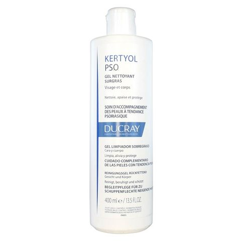 Ducray Kertyol PSO Свръхобогатен почистващ гел за лице и тяло x400 мл