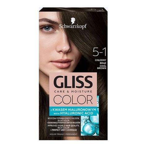 Gliss Color Трайна боя за коса, 5-1 Студено кафяв