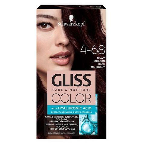 Gliss Color Трайна боя за коса, 4-68 Тъмен махагон