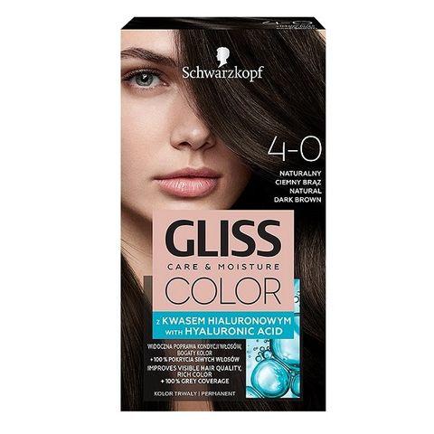 Gliss Color Трайна боя за коса, 4-0 Естествено тъмно кафяв