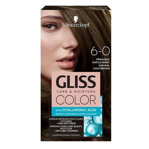 Gliss Color Трайна боя за коса, 6-0 Естествено светло кафяв