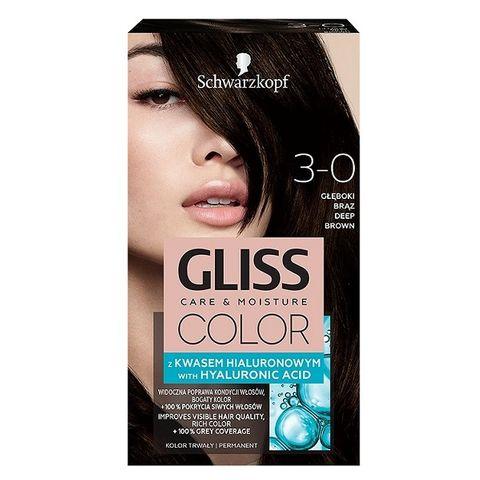 Gliss Color Трайна боя за коса, 3-0 Тъмно кафяв