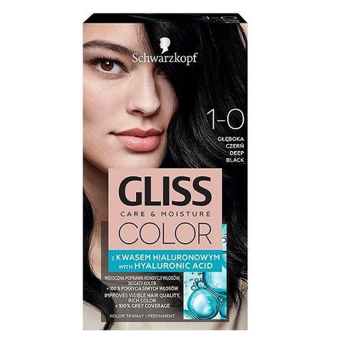 Gliss Color Трайна боя за коса, 1-0 Наситено черен