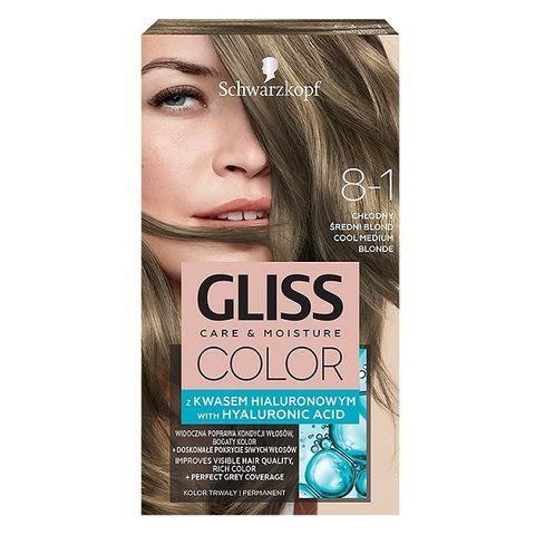 Gliss Color Трайна боя за коса, 8-1 Студено средно кафяв