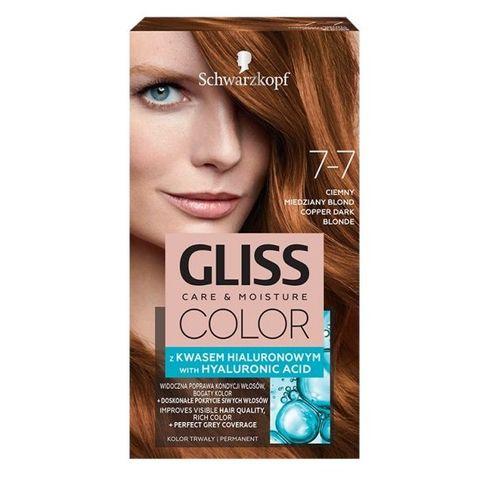 Gliss Color Трайна боя за коса, 7-7 Медено тъмно рус