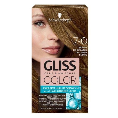 Gliss Color Трайна боя за коса, 7-0 Тъмно бежово рус