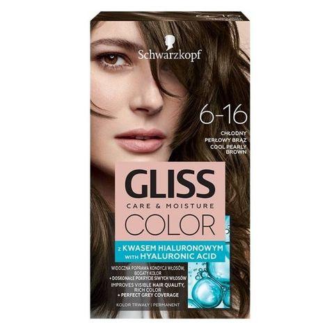 Gliss Color Трайна боя за коса, 6-16 Студено перлено кафяв