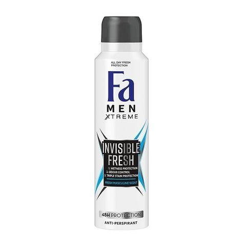 Fa Men Xtreme Invisible Fresh Део спрей против изпотяване за мъже х150 мл