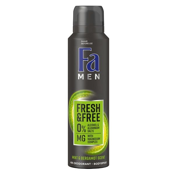 Fa Men Fresh & Free Део спрей против изпотяване за мъже с аромат на мента и бергамот х150 мл