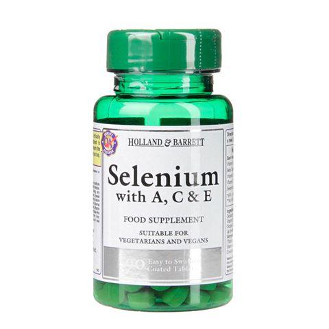 Holland And Barrett Селен с витамини А , С и Е х90 таблетки