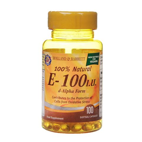 Holland and Barrett Витамин Е натурален 100IU х100 капсули