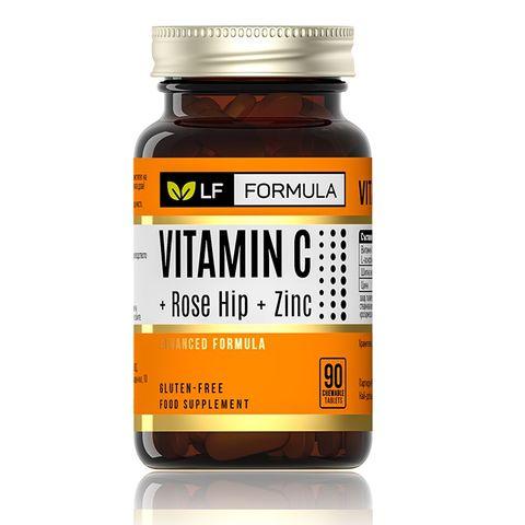 Витамин С + Шипка + Цинк х90 таблетки за дъвчене - Life Formula