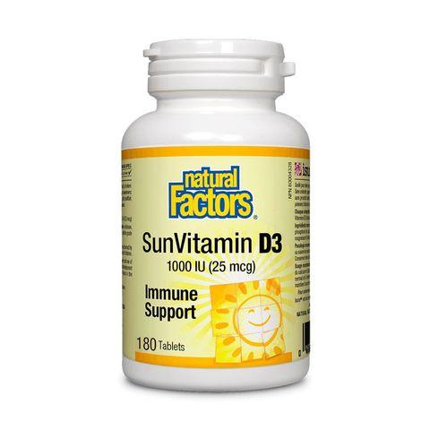 Natural Factors Витамин D3 1000 IU x180 таблетки