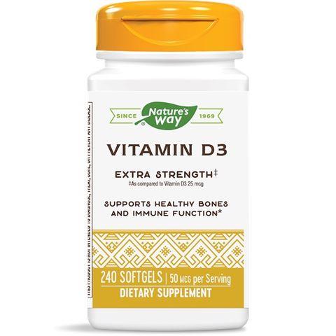 Витамин D3 2000 IU x 240 софтгел капсули Nature's Way