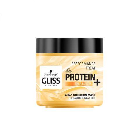 Gliss Protein 4in1 Nutrition Подхранваща маска за увредена и тънка коса x400 мл
