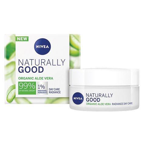 Nivea Naturally Good Освежаващ дневен крем за лице за нормална и смесена кожа x50 мл